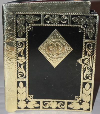 Card.. Near Fine. Shaped book program, shaped to look a bit like a three dimensional book. N.d., cir...