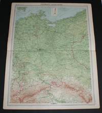 "image of Map of ""Germany - Eastern Section"" from 1920 Times Atlas (Plate 41) including Berlin, Magdeburg, Leipzip, Dresden, Chemnitz, Halle, Breslau, Posen, Stettin, Stralsund, Gorlitz, Liegnitz, Dessau, etc"
