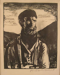 """""""A Mountain Man"""", woodcut, signed lower right"""