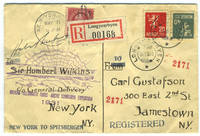 image of Signed souvenir envelope from the Wilkins- Ellsworth Trans- Arctic Submarine Expedition