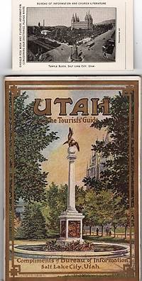 UTAH, THE TOURISTS' GUIDE [cover title]:  ITS PEOPLE, RESOURCES, ATTRACTIONS AND INSTITUTIONS [with palm card]