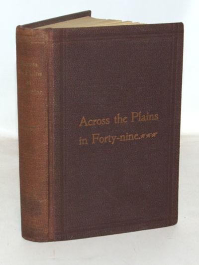 Farmland, Indiana: W. C. West, 1896. First Edition. Near fine in its original pebbled brown cloth co...