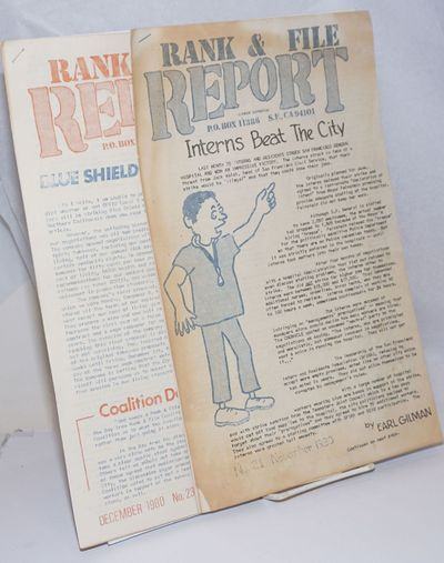 San Francisco, CA: Rank and File Coalition, 1980. Two issues of the monthly labor newsletter, printe...