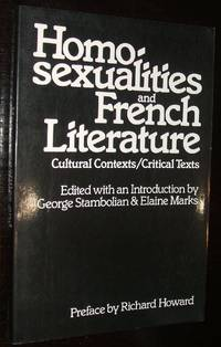 image of Homosexualities and French Literature: Cultural Contexts/critical Texts