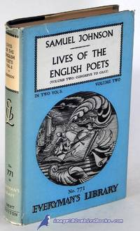 image of Lives of the English Poets, Volume Two only (of two)   (Everyman's Library  #771)