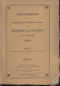 image of Proceedings of the Zoological Society of London 1920(4)