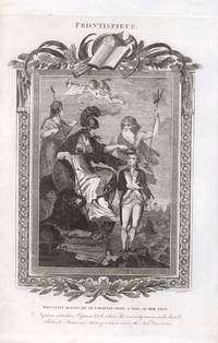 Britannia crowns Captain Cook, flanked by the Gods of Empire