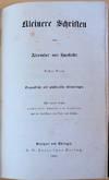 View Image 1 of 5 for Kleinere Schriften Inventory #44238
