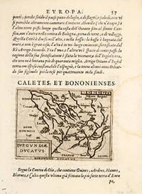 CALETTES, ET BONONIENSES. BURGUNDIAE DUCATUS by  Giovanni. Engraved by Ortelius BOTERO - 1598 - from Peter Harrington (SKU: 56227)