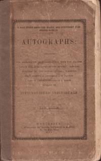 Autographs. The American Orator Appendix