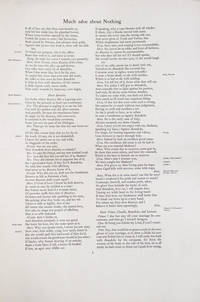 Proof Sheet for a Nonesuch Press edition in Folio of William Shakespeare by  William Shakespeare - n.d.] - from James Cummins Bookseller (SKU: 300755)