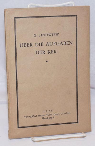 Hamburg, Germany: Verlag Carly Hoym Nachf. Louis Cahnbley, 1924. Pamphlet. 50p., wraps, 5.75 x 8.5 i...