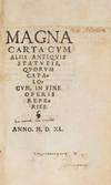 View Image 2 of 9 for Magna Carta, Cum Aliis Antiquis Statutis Secunda Pars, 1540 Inventory #71510