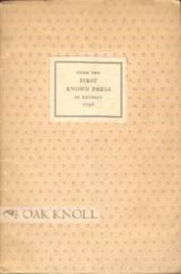 (Detroit): Detroit Public Library, 1945. stiff paper wrappers, paper cover label. McCall, John. 8vo....