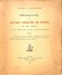 Bibliographie Des Recueils Collectifs De Poésies Du XVIe Siècle (du Jardin  De...