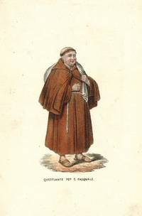 'Questuante Pep S. Pasquale' Monk with a sack on his back.