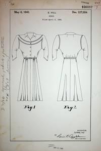 [ Original art, Design Patent ] DESIGN PATENT 127,054 DRESS patented May 6, 1941