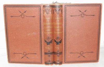 Albany, NY: J. Munsell, 1875. Second Edition. Both volumes of this two volume set are are in very go...