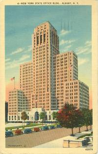 New York State Office Building, Albany New York 1941 used Postcard