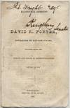 Inaugural Address of David R. Porter Governor of Pennsylvania Delivered in the Hall of the House of Representatives January 15 1839