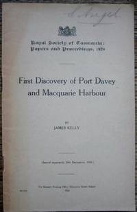 First Discovery of Port Davey and Macquarie Harbour.