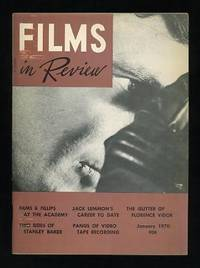 New York: National Board of Review of Motion Pictures. Very Good+. 1970. (Vol. XXI, No. 1). Magazine...
