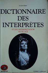 image of Dictionnaire des interprètes et de l'interprétation musicale au XXe siècle