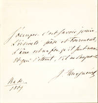 The Russian Novelist, Poet and Playwright Writes Out and Signs a Quotation from French Philosopher Voltaire