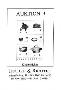 Auktion 3/31 Oct.-2 Nov.1990: Katalog 2: Kinderbücher.