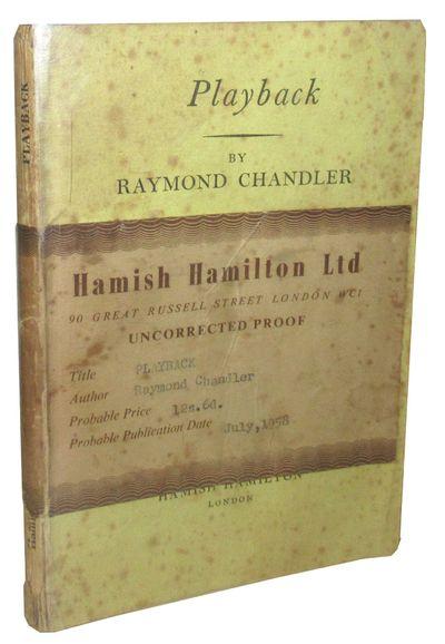 London: Hamish Hamilton, 1958 Uncorrected Proof copy. Publisher's light greenish yellow paper wrappe...
