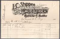 image of East Greenwich, Rhode Island Billhead L. C. Shippee Coal & Lumber Co. 1900