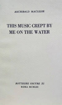 This Music Crept by Me on the Water