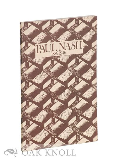 Newcastle upon Tyne, England: Northern Arts Gallery, 1971. stiff paper wrappers. Nash, Paul. 8vo. st...