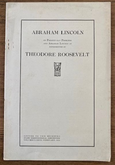 UNCOMMON LINCOLN-TEDDY ROOSEVELT ITEM