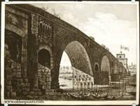 Veduta del Ponte Molle sul Tevere due miglia lontano da Roma. Questo Ponte e stato ristaurato, e costruito l'Arco Trionfale A..dal Sommo Pontefice PIO VII. Regnante