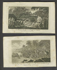 image of Death of Capt. Cook & Otaheite view.  Copper engravings