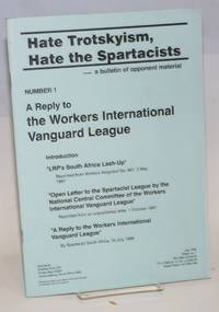 A reply to the Workers International Vanguard League