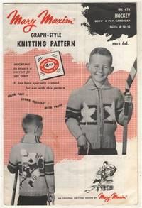 Graph Style Knitting Pattern : Mary Maxim Graph-Style Knitting Pattern No. 474 HOCKEY: Boys 4 Ply Cardi...