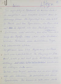 "Leben. Autograph Manuscript, signed (""Manfred Eigen"") at head of first page"