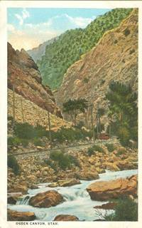 Ogden Canyon, Utah 1920s unused Postcard