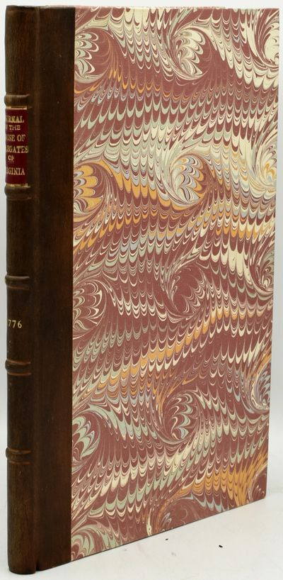 Williamsburg: Printed by Alexander Purdie, Printer to the Commonwealth, 1776. First Edition. Quarter...