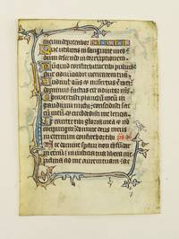 FROM AN ENGLISH PSALTER IN LATIN by  OFFERED INDIVIDUALLY ILLUMINATED VELLUM MANUSCRIPT LEAVES - 14th century - from Phillip J. Pirages Fine Books and Medieval Manuscripts (SKU: ST15198jD)