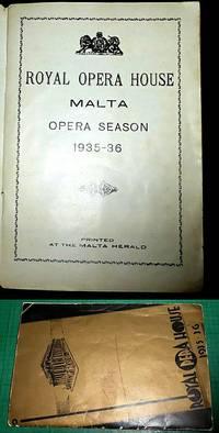 ROYAL OPERA HOUSE Malta Opera Season 1935-36