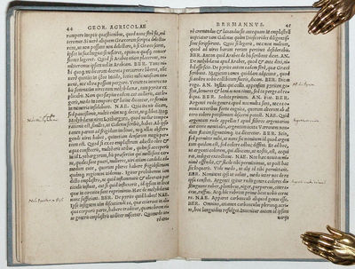 Leipzig: Valentinus Papa, 1546. Rare Leipzig printing of Agricola�s first book devoted to mining, a ...