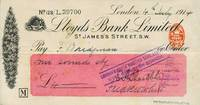 image of Autograph check from Shackleton fom his Imperial Trans-Antarctic Expedition, signed by Shackleton