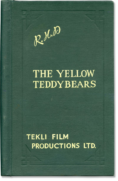 London: Tekli Film Productions / Animated Motion Pictures, 1963. Final shooting script for the 1963 ...