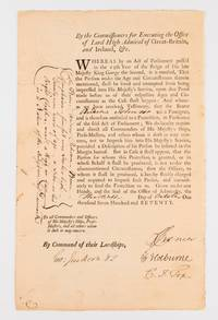A document signed by Sir George Jackson (1725-1822), as Judge Advocate of the Fleet, on 30...