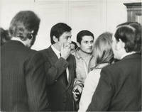 image of Original photograph of Johnny Hallyday, Alain Delon, Claude Lelouch, and Nathalie Delon at a protest in support of Israel, 1967