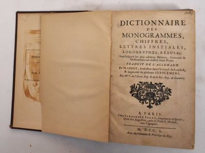 Paris: S. Jorry, 1750. Hardcover. Fair (Binding copy only. Boards worn. spine is torn loose, age ton...