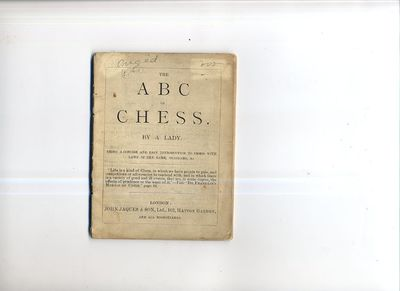 London: John Jaques & Son, 1910. First edition. Original Wraps. Very Good. 12mo. 52pp. plus (12)pp. ...